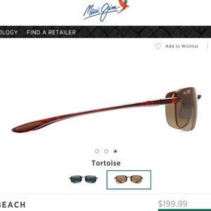 NWT Maui Jim tortoise Sunglasses patented Lens